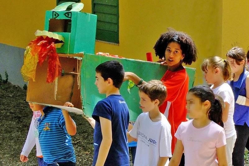 Colònies escolars a la casa de colònies El Rourell